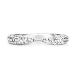 Triple Row Diamond Claw Ring | Ring Concierge