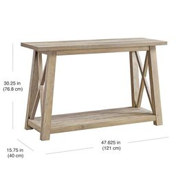 Better Homes & Gardens Granary Modern Farmhouse Console Table, Multiple Finishes   Walmart (US)