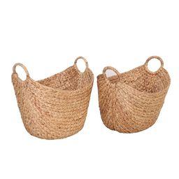 Better Homes & Gardens Large Natural Water Hyacinth Boat Basket, Set of 2   Walmart (US)