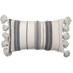Better Homes & Gardens Decorative Throw Pillow, Stripe Oversize, Oblong, Ivory/Grey, 14'' x 24'',...   Walmart (US)
