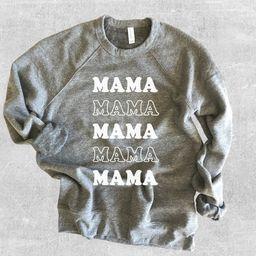 Mama Sweatshirt, Mama, Cool Mom Vibes, Mom Shirt, Cute Sweatshirt for Women, Crewneck Sweatshirt,... | Etsy (US)
