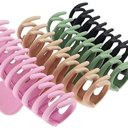 TOCESS Big Hair Claw Clips 4 Inch Nonslip Large Claw Clip for Women and Girls Thin Hair, Strong H... | Amazon (US)