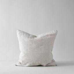 Linen Pillow in Natural 26 x 26   Bloomist