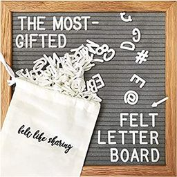 Gray Felt Letter Board, 10x10 inches Changeable Letter Board + 300 White Plastic Letters, Warm Oa... | Amazon (US)