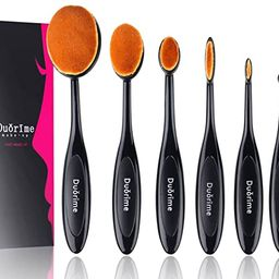 Duorime New 7pcs Black Oval Toothbrush Makeup Brush Set Cream Contour Powder Concealer Foundation... | Amazon (US)
