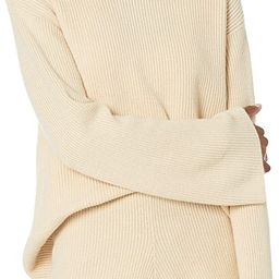The Drop Women's Alice Crewneck Back Slit Ribbed Pullover Sweater | Amazon (US)