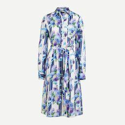 A-line shirtdress in vintage floral stripe | J.Crew US