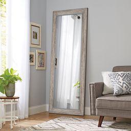 "Better Homes & Gardens 27"" x 70"" Rectangular Leaner Mirror, Gray Rustic   Walmart (US)"
