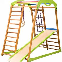 Wooden Playgrounds Babywood Home Gymnastic, Wood Indoor Jungle Gym Sets, Climbing Kids, Indoor Ch... | Amazon (US)