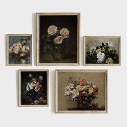 Vintage Flower Gallery Wall SET  Vintage Botanical Prints  | Etsy | Etsy (US)