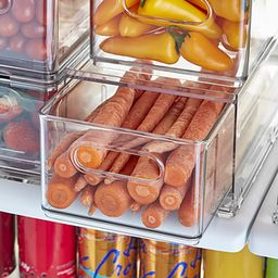 THE HOME EDIT T.H.E. Divided Fridge Drawer Clear   The Container Store