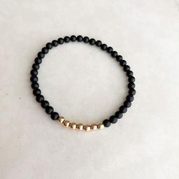 Black onyx single bracelet  one | Etsy | Etsy (US)