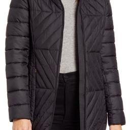 Via Spiga Water Resistant Faux Fur Collar Puffer Coat   Nordstrom   Nordstrom