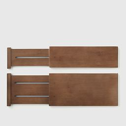 Shallow Bamboo Drawer Divider Kocha Brown Pkg/2   The Container Store