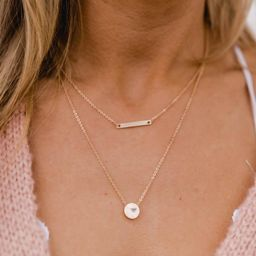 Optimistic Love Layered Necklace Gold | The Pink Lily Boutique