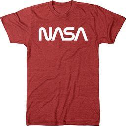NASA Vintage White Worm Logo Men's Modern Fit Tri-Blend T-Shirt | Amazon (US)