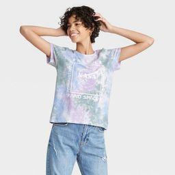 Women's NASA Tie-Dye Short Sleeve Graphic T-Shirt - Purple | Target