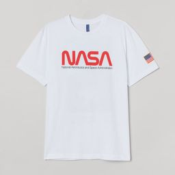 T-shirt in cotton jersey with a printed design. | H&M (US)