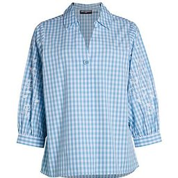 Puff-Sleeve Gingham Shirt   Saks Fifth Avenue OFF 5TH