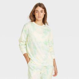 Women's Tie-Dye Beautifully Soft Fleece Lounge Sweatshirt - Stars Above™ | Target
