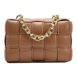 'Maddie' Intrecciato Faux Leather Chain Strap Bag (4 Colors)   Goodnight Macaroon
