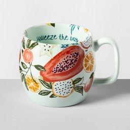 17oz Stoneware Squeeze The Day Kira Mug Green - Opalhouse™   Target