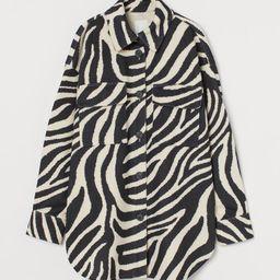 Felted Shirt Jacket   H&M (US)