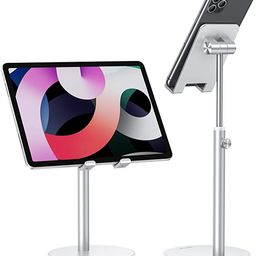 Cell Phone Stand, OMOTON Angle Height Adjustable Phone Stand, Aluminum Desktop Phone Holder Dock ...   Amazon (US)