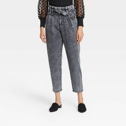 Women's High-Rise Paperbag Pants - Who What Wear™ Black | Target