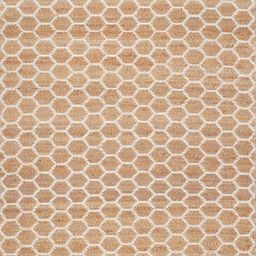 """Natural Hand Woven Jute Reversible Honeycomb 7' 6"""" x 9' 6"""" Area Rug 