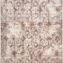 Cream Vintage Persian 5' x 8' Area Rug | Rugs USA