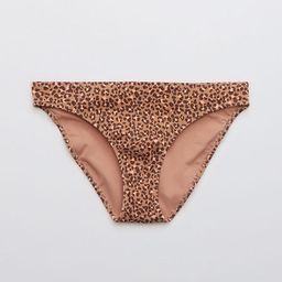 Aerie Ribbed Leopard Bikini Bottom | American Eagle Outfitters (US & CA)
