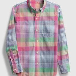 Kids Plaid Poplin Shirt | Gap (US)