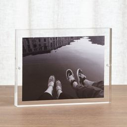 Acrylic 6x8 Block Picture Frame + Reviews | Crate and Barrel | Crate & Barrel