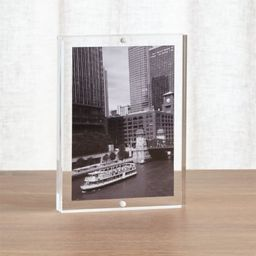 Acrylic 5x7 Block Picture Frame + Reviews | Crate and Barrel | Crate & Barrel