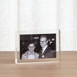 Acrylic 4x6 Block Picture Frame + Reviews | Crate and Barrel | Crate & Barrel