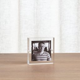Acrylic 3x3 Block Picture Frame + Reviews | Crate and Barrel | Crate & Barrel