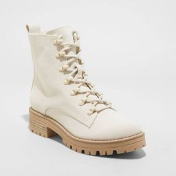 Women's Parker Lace Up Boots - Universal Thread™ Cream | Target