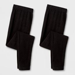 Girls' 2pk Leggings - Cat & Jack™ Black | Target