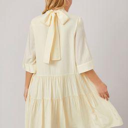 MOTF PREMIUM FLOWY TIE BACK SMOCK DRESS | SHEIN