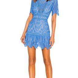 SAYLOR Darian Dress in Blue from Revolve.com | Revolve Clothing (Global)