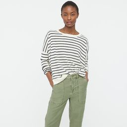 Relaxed-fit crewneck sweater in stripe   J.Crew US
