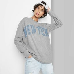 Women's Long Sleeve Oversized T-Shirt - Wild Fable™ | Target