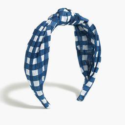 Printed knot headband   J.Crew Factory