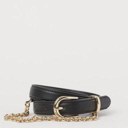 Chain-detail Waist Belt | H&M (US)