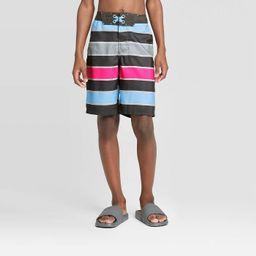 Boys' Pink Pop Stripe Swim Trunks - art class™ Charcoal | Target