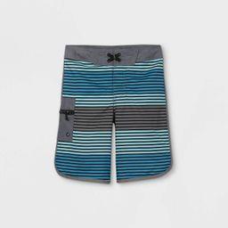Boys' Horizontal Stripe Swim Trunks - art class™ Blue/Gray | Target