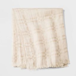 Women's Plaid Oversized Square Scarf - Universal Thread™ Cream | Target