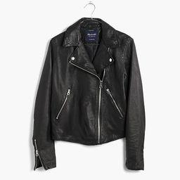 Washed Leather Motorcycle Jacket   Madewell