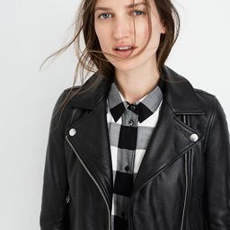 Ultimate Leather Motorcycle Jacket   Madewell